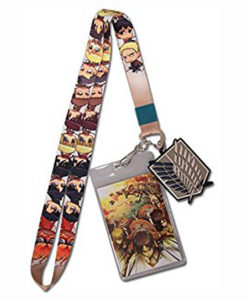attack on titan lanyard