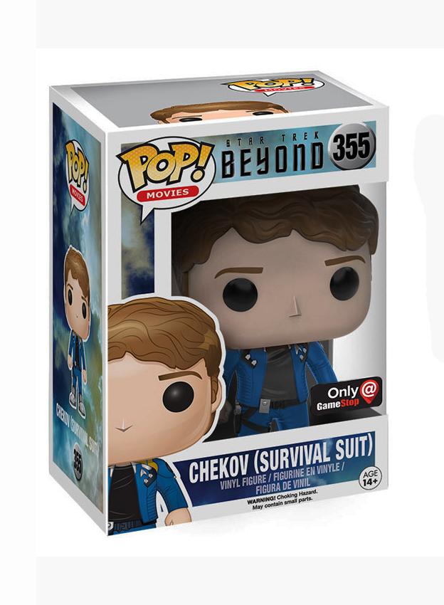 Chekov in Survival Suit Pop Star Trek Beyond Vinyl Figure