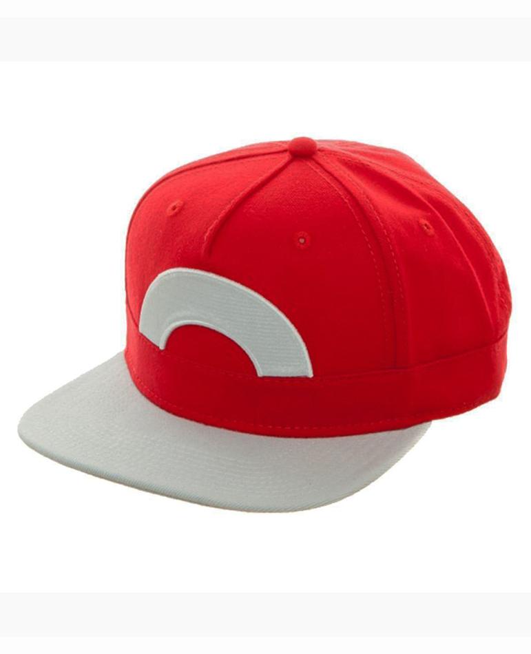 Snapback Cap Pokemon Ash Ketchum Cosplay Anime Remix